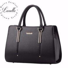 ขาย Lavelle 4101 Veoelin การออกแบบเกาหลี คุณภาพระดับพรีเมียม แฟชั่น กระเป๋าถือ สีดำ ผู้ค้าส่ง