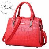 ซื้อ Lavelle 4201 การออกแบบเกาหลี คุณภาพระดับพรีเมียม แฟชั่น กระเป๋าถือ สีแดง Lavelle