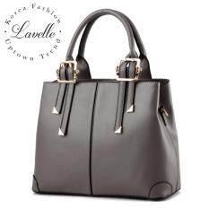 Lavelle 4203 การออกแบบเกาหลีคุณภาพระดับพรีเมี่ยมแฟชั่นกระเป๋าถือกระเป๋าสะพายไหล่ สีเทา เป็นต้นฉบับ