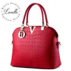 ราคา Lavelle 4403 การออกแบบเกาหลี คุณภาพระดับพรีเมียม แฟชั่น กระเป๋าถือ สีแดง ใหม่