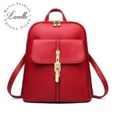 ขาย Lavelle 5001 การออกแบบเกาหลี คุณภาพระดับพรีเมียม แฟชั่น กระเป๋าเป้สะพายหลัง สีแดง Lavelle เป็นต้นฉบับ