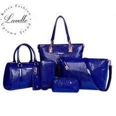 ซื้อ Lavelle 603 6ใบใน1 เดียว คุณภาพระดับพรีเมียม แฟชั่น กระเป๋าถือ 6 In 1 สีน้ำเงิน Lavelle