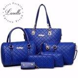 ซื้อ Lavelle 604 6ใบใน1 เดียว คุณภาพระดับพรีเมียม แฟชั่น กระเป๋าถือ 6 In 1 สีน้ำเงิน ออนไลน์