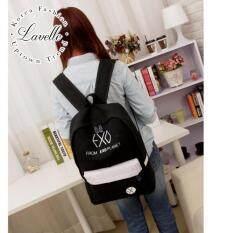 ซื้อ Lavelle 9251 การออกแบบเกาหลี คุณภาพระดับพรีเมียม แฟชั่น กระเป๋าเป้สะพายหลัง สีดํา