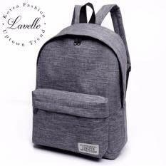 ขาย Lavelle 9257 การออกแบบเกาหลี คุณภาพระดับพรีเมียม แฟชั่น กระเป๋าเป้สะพายหลัง สีเทา Lavelle ออนไลน์