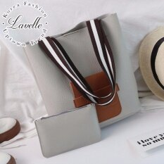 ขาย ซื้อ Lavelle Kd945 2ใบใน1 เดียว คุณภาพระดับพรีเมียม แฟชั่น กระเป๋าถือ 2 In 1 สีเทา ใน ไทย