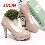 ทบทวน Lcfu764 34 42 รองเท้าส้นสูงของผู้หญิงคลาสสิกผู้หญิงปั๊มแพลตฟอร์ม Comfy 10Cm Apricot นานาชาติ Lcfu764