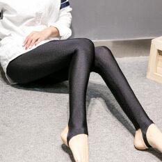 ซื้อ ฤดูใบไม้ร่วงและฤดูหนาว Ld7001 ไนลอนสูงยืดหยุ่นเอวยางยืด Bottoming กางเกงกางเกง เงาสีดำกำมะหยี่เหยียบรุ่น Unbranded Generic ออนไลน์