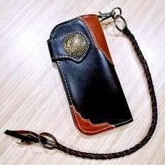 ซื้อ Leather Bag กระเป๋าถือกระเป๋าสตางค์ ผู้ชาย หนังแท้หนังเรียบ มีสายห้อย รุ่น Okb 001 1 สีดำ ใน กรุงเทพมหานคร