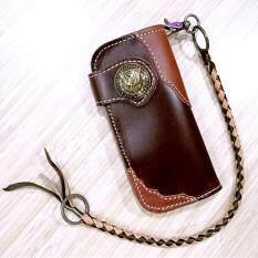 ขาย Leather Bag กระเป๋าถือกระเป๋าสตางค์ ผู้ชาย หนังแท้หนังเรียบ มีสายห้อย รุ่น Okb 001 2 สีน้ำตาล Leather Bag เป็นต้นฉบับ