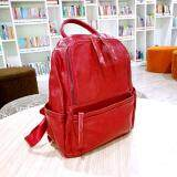 ซื้อ Leather Best Style กระเป๋าเป้สะพายหลัง ผู้หญิง หนังแท้ Size M รุ่น A600 5 B สีแดง ถูก