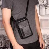 ซื้อ Leather Best Style กระเป๋าสะพายและคาดเข็มขัดได้ Size S หนังแท้ รุ่น C002 9 11B สีดำ ออนไลน์ ไทย