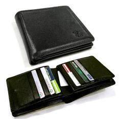 ขาย Leather Best Style กระเป๋าสตางค์หนังแท้ใส่บัตร30ช่องใส่แบงก์สองช่อง รุ่น B022 2 3 สีดำ