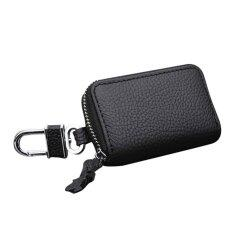 โปรโมชั่น Leather Car Key Holder Hanging Bags Black Intl