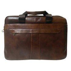 ราคา Leather Inc กระเป๋าสะพายแบบมีหูหิ้วหนังแท้ ไซส์l รุ่นK600 2 สีน้ำตาลอ่อน Leather Inc ไทย