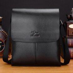 ซื้อ Leather Linc กระเป๋าสะพายผู้ชายหนังแท้ รุ่น K505 M สีดำ ใน ไทย