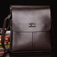 ส่วนลด สินค้า Leather Linc กระเป๋าสะพายผู้ชายหนังแท้ ไซส์l รุ่น K505 L สีน้ำตาลเข้ม
