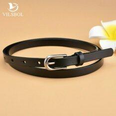 ขาย Leather Lnc เข็มขัดผู้หญิงหนังแท้ Size M เส้นเล็ก รุ่น W010 2 M สีดำ Leather Inc