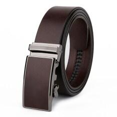 ทบทวน Leather Lnc เข็มขัดผู้ชาย หนังแท้ หัวเข็มขัดอัตโนมัต รุ่นM002 Brown Leather Inc