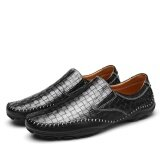 ส่วนลด Leather Luxury Brand Men Casual Shoes Driving Soft Comfy Formal Business Shoes High Quality Intl