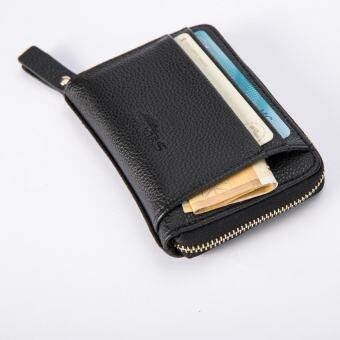 Leather Men Business Wallet Vintage Purse High Quality ID Credit Card Pockets BK - intl-