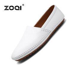 ขาย Leather Shoes Zoqi Men S Fashion Casual Shoes Low Cut Formal Shoes White Intl Zoqi ผู้ค้าส่ง