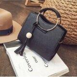 ราคา Leather Women Bags Fashion Small Shell Bag Women Shoulder Bagsummer Casual Crossbody Bagl 10018 Black ราคาถูกที่สุด