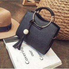 ขาย Leather Women Bags Fashion Small Shell Bag Women Shoulder Bagsummer Casual Crossbody Bagl 10018 Black ผู้ค้าส่ง