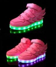 ราคา โคมไฟเด็กรองเท้าเด็กรองเท้าเด็กชายกีฬารองเท้าสาวรองเท้าสบายๆ สีชมพู สนามบินนานาชาติ Camshot เป็นต้นฉบับ