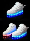 ขาย ซื้อ Led Lamp Children S Shoes Kid Loafers Boy Sports Shoes G*rl Leisure Shoes White Intl ใน จีน
