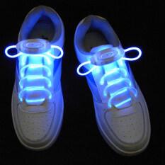 เชือกผูกรองเท้า Led แฟลชมีไฟเรืองแสงสายคล้องไม้ไฟเบอร์ออปติกกันน้ำ Rave Party เชือกผูกรองเท้าเส้นไนลอน By Joylivecy.
