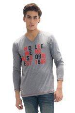 ซื้อ Lee เสื้อยืดคอวีแขนยาว รุ่น 12002006 Grey ถูก