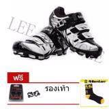 ทบทวน Lee Bicycle Boodun รองเท้าปั่นจักรยานเสือภูเขา สีดำและขาว คริปรองเท้า ถุงเท้า Leebicycle