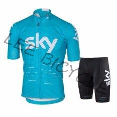ราคา Lee Bicycle ชุดสั้นปั่นจักรยานลายทีม ยี่ห้อ Sky กางเกงเป้าเจล แบบ ผู้ชาย ผู้หญิง ที่สุด