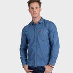 ซื้อ Lee Cooper Men S Long Sleeve Denim Shirt รุ่น Lms5343A Blue Lee Cooper ออนไลน์