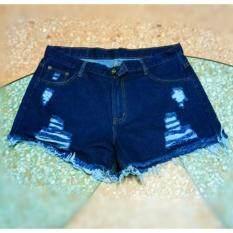 ขาย ซื้อ ออนไลน์ Lee Shop กางเกงยีนส์ขาสั้นผู้หญิง เอวสูง กางเกงยีนส์เกาหลี รุ่น5303