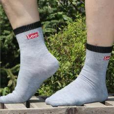 Lee Socks สีเทา แพค 4 ชิ้น ใหม่ล่าสุด
