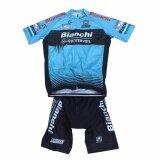 ขาย Leebicycle ชุดสั้นปั่นจักรยานลายทีม Bianchi ยี่ห้อ กางเกงเป้าเจล แบบ ผู้ชาย ผู้หญิง Trek ผู้ค้าส่ง