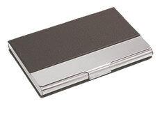 ขาย Leegoal Synthetic Leather Business Card Credit Id Card Holder Metal Frame Case Organizer Dark Brown Intl Leegoal เป็นต้นฉบับ