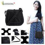 ขาย Leegoal Vintage Pu Leather Carved Pattern Shoulder Crossbody Bag For Womens Girls Black Intl Leegoal ใน จีน