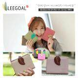 ราคา Leegoal Women Pu Leather Contrast Color Retro Leaf Purses ใหม่ล่าสุด