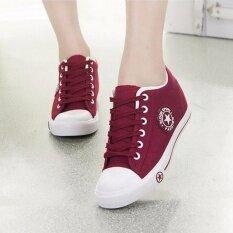 ราคา รองเท้าผ้าใบผู้หญิง Leemo 9107 สีแดงเลือดหมู Leemo เป็นต้นฉบับ