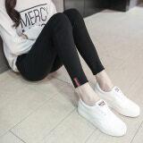 ขาย เกาหลีสวมใส่ด้านนอกแน่นฟุตกางเกงดินสอใหม่ Leggings มุมขวาสีดำ Unbranded Generic