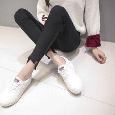 ขาย เกาหลีสวมใส่ด้านนอกแน่นฟุตกางเกงดินสอใหม่ Leggings ดัดผมสีดำ Unbranded Generic ออนไลน์