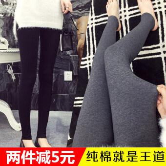เกาหลีฤดูร้อนสวมใส่ด้านนอกกางเกงหญิงตั้งครรภ์ Leggings (สีดำ (ฤดูร้อน Modaier))