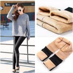 ซื้อ เลกกิ้ง กางเกงเลกกิ้ง Leggings Skinny ถุงน่องบุขน สกินนี่บุขน ลองจอน ฮีทเทค กางเกงเลกกิ้งบุขน กันหนาว รุ่น Bk Cr ฟรีไซส์ สีดำ ออนไลน์ ถูก