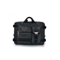 ขาย Leisure Canvas Backpack Computer Bag Multifunction Shoulder Messenger Bag Black Intl Unbranded Generic ผู้ค้าส่ง