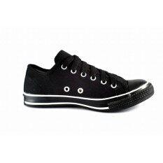 ส่วนลด Converse By Leo รองเท้าผ้าใบแฟชั่น ลีโอ รหัส 955 สีดำแถบขาว Leo กรุงเทพมหานคร