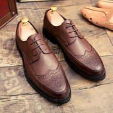 ขาย Lescopines รองเท้าวัวรองเท้าฟอร์ดรองเท้าแฟชั่นภาษาอังกฤษแบบมืออาชีพ สีน้ำตาล สนามบินนานาชาติ ใหม่