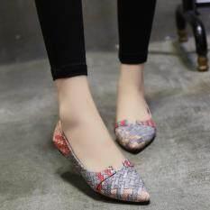 ทบทวน Lescopines ผู้หญิงรองเท้าสบายๆงานเย็บปะผ้าออกแบบเกาหลีแฟชั่น Lescopines